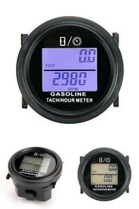Inductive Tachometer With Gas Engine Hour Meter Digital Gauge Diesel Pressure