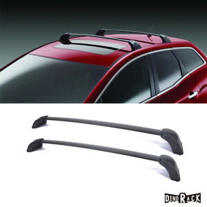 For 07 12 Mazda Cx 7 Blk Aluminum Roof Rack Cross Bar Luggage Cargo Carrier Rail