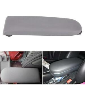 Grey Pu Leather Center Console Armrest Cover Lid For Vw Jetta Golf Mk4 Beetle
