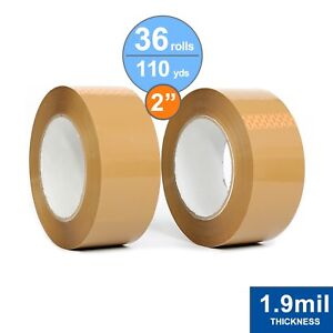 36 Rolls Package Tape 2 X 110 Yards Carton Sealing Tape 1 9mil Thick Tan