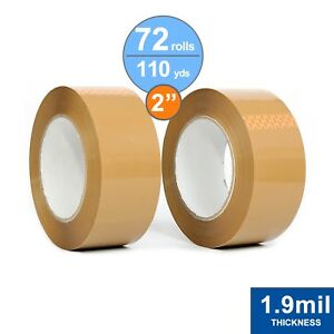 72 Rolls Package Tape 2 X 110 Yards Carton Sealing Tape 1 9mil Thick Tan