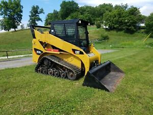 2008 Caterpillar 257b2 Compact Rubber Track Multi Terrain Skid Steer Loader Cat