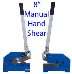 8 Manual Hand Shear Shearer Sheet Metal Steel Cutter Free Shipping