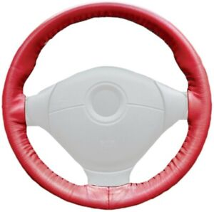 Wheelskins Red Genuine Leather Steering Wheel Cover For Buick
