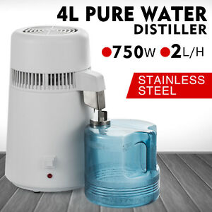 4l Dental Medical Pure Water Distiller Purifier All Stainless Steel Internal