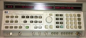Agilent Hp 8340a Synthesized Sweep Signal Generator 10mhz To 26 ghz