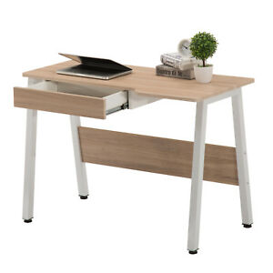 New Home Office Computer Desk Wood Table Workstation W drawer Adjustable Leg Pad