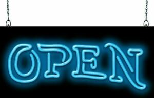 Open Neon Sign Jantec 3 Sizes Tattoo Piercing Free Shipping Body Art