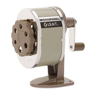 Sanford 51131cx Giant Pencil Sharpener Table Or Wall mounted Tan Six positio