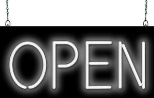 Open Neon Sign Jantec 3 Sizes Marketing Free Shipping White Window Sign