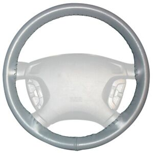 Wheelskins Gray Genuine Leather Steering Wheel Cover For Buick size Ax