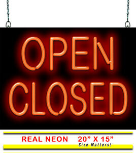 Open Closed Neon Sign Jantec 2 Sizes Marketing Real Neon Free Shipping
