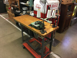 Rare Antique 1861 Willcox Gibbs Industrial Sewing Machine Table only
