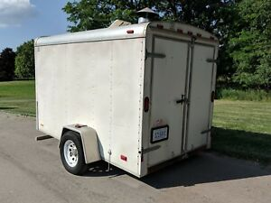Hot Water Pressure Washer Enclosed Trailer 730 Hours 3000 Psi Ready To Work