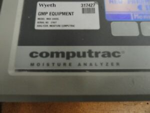 Arizona Instrument Max 2000xl Computrac Moisture Analyzer