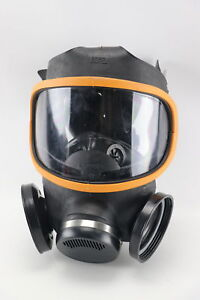Msa M6 C2 Fulll Face Silicone Dual Port Full Face Respirator Size Large