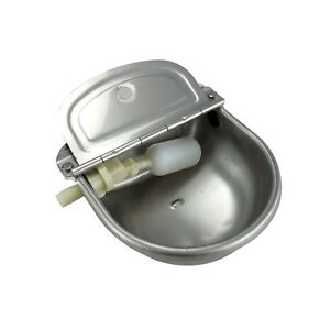 Stainless Steel Automatic Waterer Bowl Horse Cattle Goat Sheep Pig Dog Float