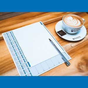 Desk Pad Jotter 2 Year Calendar Week Planner Executive Todo Paper Notes blue