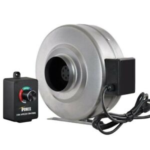 Ipower 4 Inch 206cfm Inline Duct Ventilation Fan With Variable Speed Controller