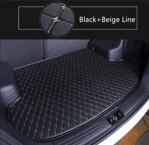 Handmade Leather Car Trunk Mat Cargo Liner Pad Tray For Toyota Sienna 2015 2017