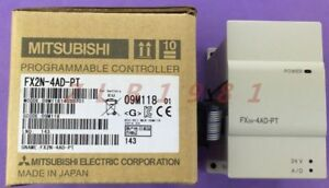 One New Mitsubishi Fx2n 4ad pt Programmable Logic Controller