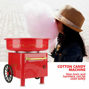 Red Mini Candyfloss Making Machine Home Electric Cotton Sugar Candy Floss Maker