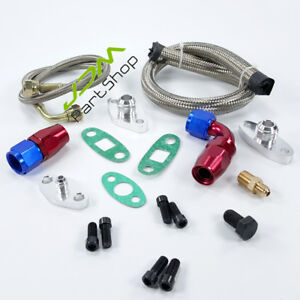 Oil Feed Line Kit Flange Fittings For Toyota Supra 1jz 2jz 2jz gte Twin Turbo