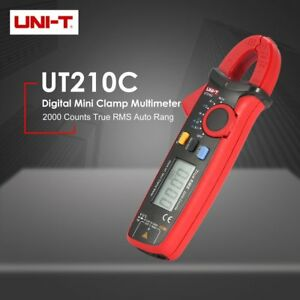 Uni t Ut210c Mini Digital Clamp Multimeter True Rms Auto Range Dc ac Voltage Rt