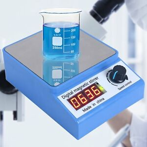 3000rpm Magnetic Stirrer Mixer Plate Stir Bar Laboratory New