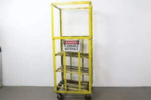 Forklift Propane Tank Storage Rack On Casters Holds 6 Cylinders
