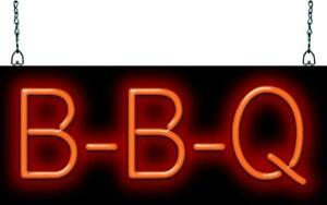 Bbq Neon Sign Jantec 20 Wide X 8 High Barbecue Free Shipping Real Neon