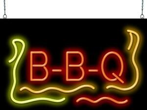 Bbq Neon Sign Jantec 2 Sizes Barbecue Free Shipping Real Neon Graphics