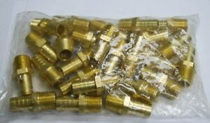 Brass Fittings Brass Male Hose Barb Male Pipe Size 1 2 Hose Id 1 2 Qty 25