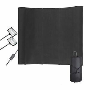 Display Black Trade Show Booth Exhibit Pop Up Kit Spotlights Wfs323 8ft Portable