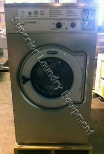 Wascomat Washer W630 30lb Coin 220v 3ph Stainless Steel Front Reconditioned