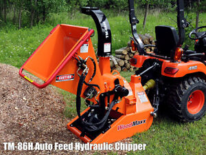 Woodmaxx Tm 86h Pto Tractor Driven Hydraulic Auto feed Chipper