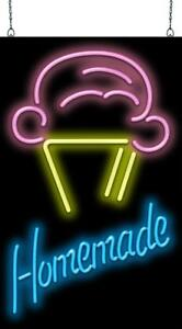 Ice Cream Cone With Homemade Neon Sign Jantec 2 Sizes Frozen Yogurt Real