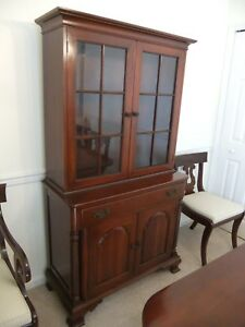 Vintage Willett Solid Cherry China Cabinet Crofton Md