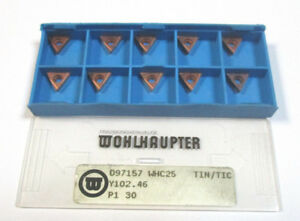 10 Turning Plates 097157 Whc25 Tin Tic Y102 46 Von Wohlhaupter New H21783