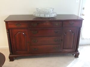 Willett Solid Cherry Buffet With Rope Motif 62 Inches Wide