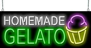 Homemade Gelato Neon Sign Jantec 2 Sizes Ice Cream Free Shipping