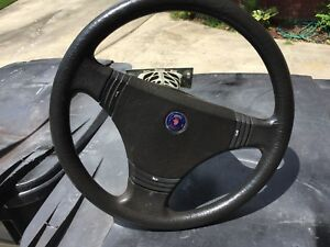 Saab 900 Classic T16 Steering Wheel Pre airbag And Upper Steering Cage