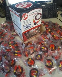 100 Ck Safety Ckr907 ry Metal Detectable Reusable Earplugs With Cord Nrr 26