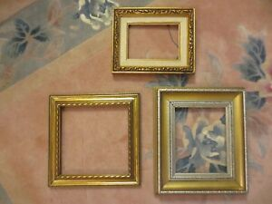 Lot Of 3 Unused Vintage Style Ornate Wooden Frames 9 X 9 7 X 5 8 1 2 X 7 In