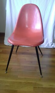 Herman Miller Original 100 Fiberglass Shell Chair Orange Mid Century Modern