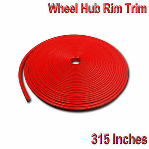 312 Car Wheel Hub Rim Trim Tire Ring Guard Rubber Strip Protector Decor Red