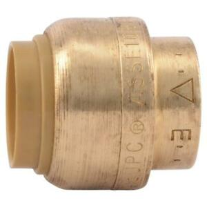 Sharkbite 1 2 In Brass Push to connect End Stop Contractor Pack 10 pack