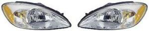 Side pair For 2000 2007 Ford Taurus Front Headlight Assembly Replacement