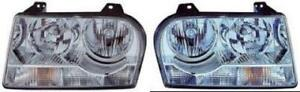Side Pair For 2008 2009 Chrysler 300 300c Front Headlight Assembly