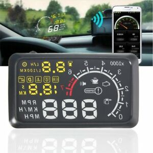 X3 5 5 Car Hud Head Up Display Engine Speed Warning Alarm Bluetooth Cus